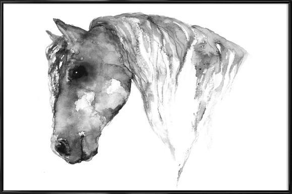 Grey Horse - Larissa van der Laan - Poster in Standard Frame 302b360c37371