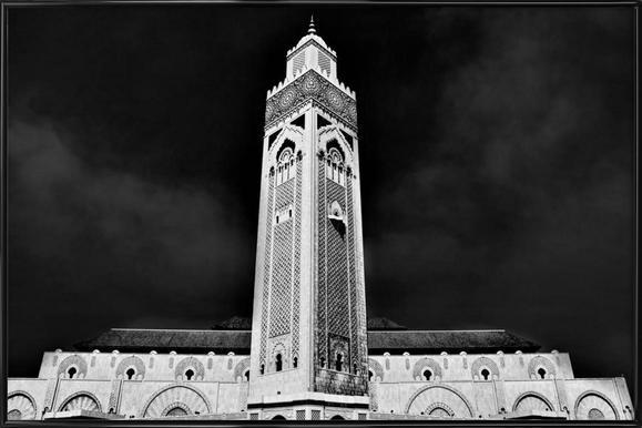 Hassan II Mosque 2 -Bild mit Kunststoffrahmen