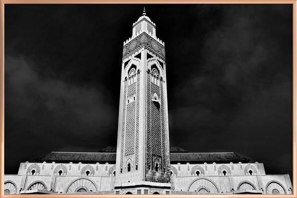 Hassan II Mosque 2 -Poster im Alurahmen