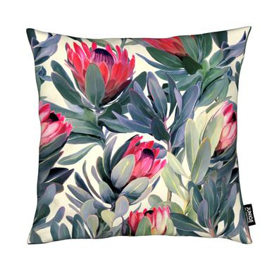 Painted Protea Pattern Cushion