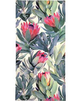 Painted Protea Pattern Serviette de bain