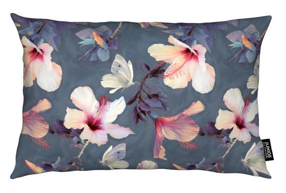 Butterflies & Hibiscus Flowers Kissen