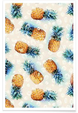 Pineapples + Crystals Poster