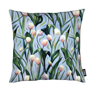 Waiting On The Blooming – Tulip Pattern Kissen