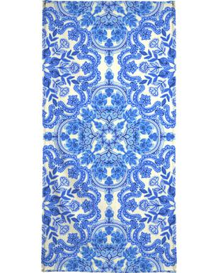 Blue   White Folk Art Pattern som Presentpapper  a8a1d0f73cd60