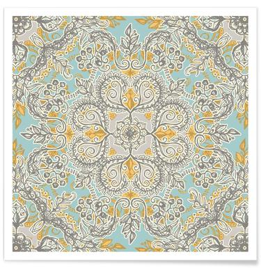 Gypsy Floral Pattern Poster