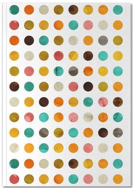 Autumnal Polka Dot Notebook