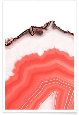 Living Coral Agate -Poster