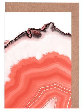Living Coral Agate -Grußkarten-Set