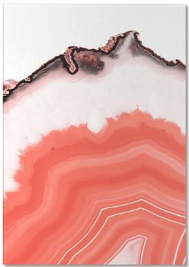 Living Coral Agate -Notizblock