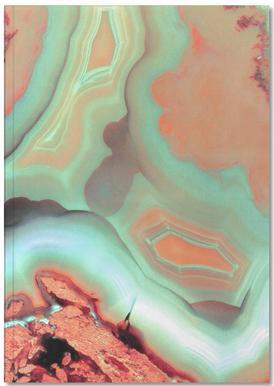 Living Coral Blue Agate Notizbuch