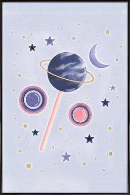 Lollipop Planet -Bild mit Kunststoffrahmen
