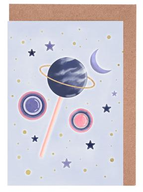 Lollipop Planet Grußkartenset