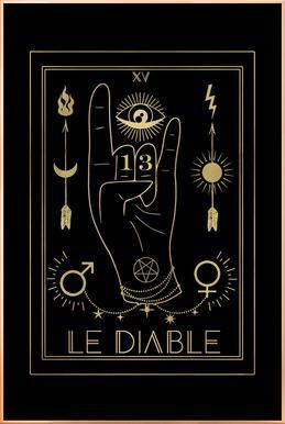 Le Diable Poster im Alurahmen