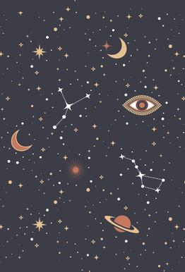 Mystical Galaxy -Acrylglasbild