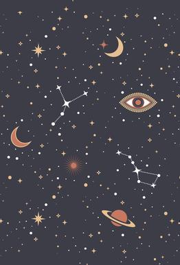 Mystical Galaxy Aluminium Print