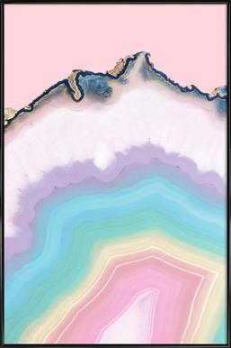 Rainbow Agate -Bild mit Kunststoffrahmen