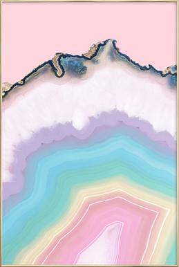 Rainbow Agate Poster im Alurahmen