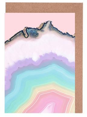 Rainbow Agate Grußkartenset