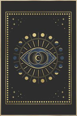 Vi Chakra Poster im Alurahmen
