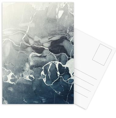 Blue Sea Marble Postcard Set