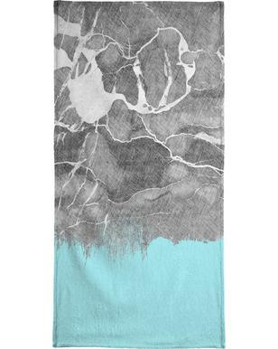 Crayon Marble and Sea Prints handdoek