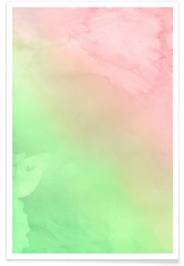 Greenely and Rose Quartz Prints poster