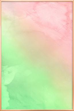 Greenely and Rose Quartz Prints poster in aluminium lijst