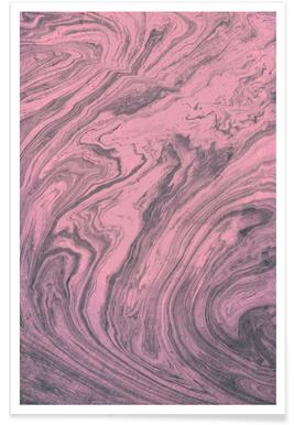 Pink Marbled Texture poster