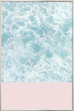 Pink on the Sea poster in aluminium lijst