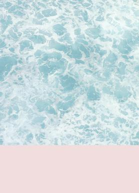 Pink on the Sea canvas doek