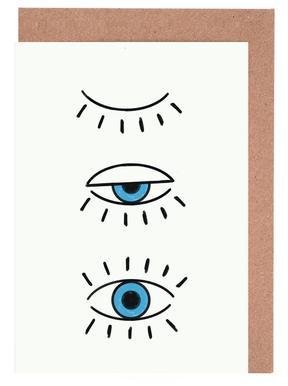 Summer Evil Eye Set de cartes de vœux