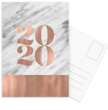 2019 Marble Edition Set de cartes postales