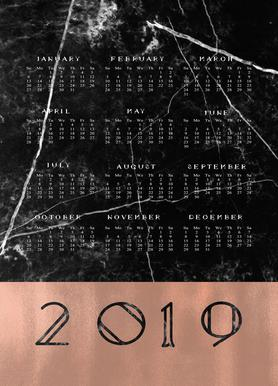 2019 Black Marble Edition Leinwandbild