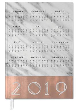 2019 Marble Edition White agenda