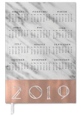2019 Marble Edition White -Terminplaner