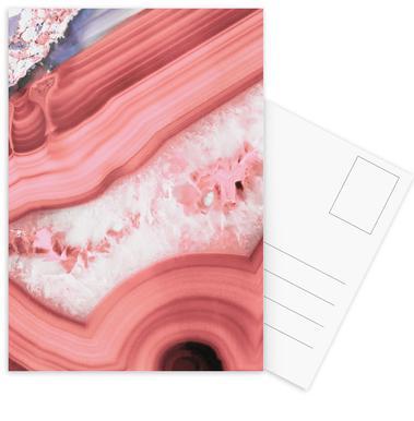 Agate Living Coral -Postkartenset