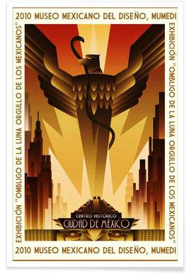 Mexico Art Deco Poster