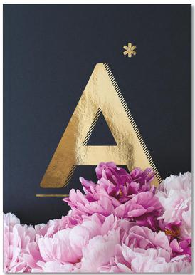 Flower Alphabet A Carnet de note