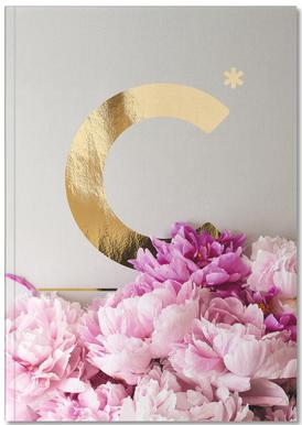 Flower Alphabet C Notebook