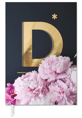 Flower Alphabet D Agenda