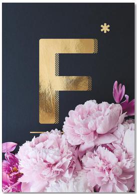 Flower Alphabet F Notebook