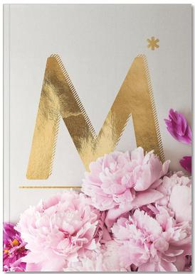Flower Alphabet M Notizbuch
