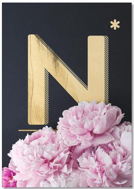 Flower Alphabet N Bloc-notes