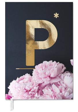 Flower Alphabet P Agenda