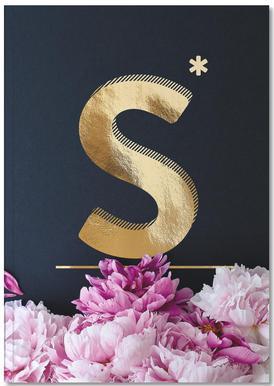 Flower Alphabet S Notizbuch