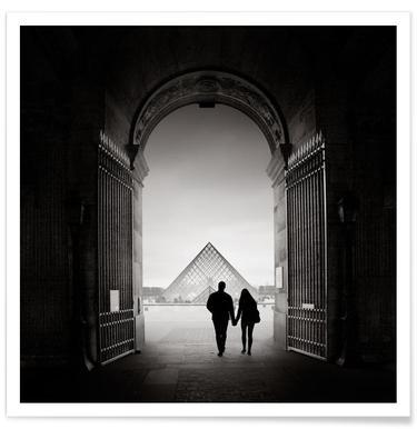 France - La Pyramide du Louvre Poster