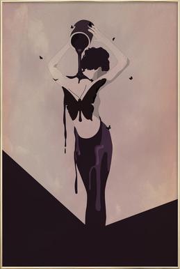 Guss -Poster im Alurahmen