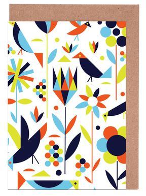 Bird and Flower Greeting Card Set