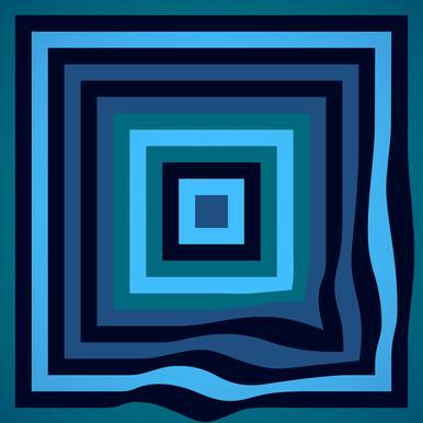 Blue Ripple Acrylic Glass Print